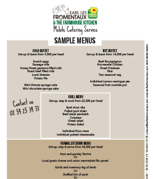 Sample Catering Menus